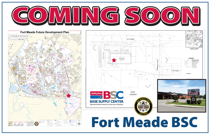 Fort Meade BSC coming soon!  Map of Fort Meade with star located at proposed spot - TBA