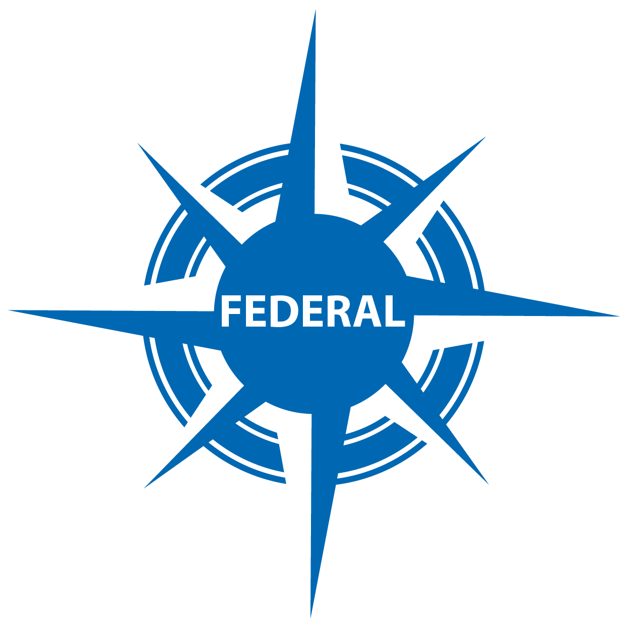 blue compass with FEDERAL in center