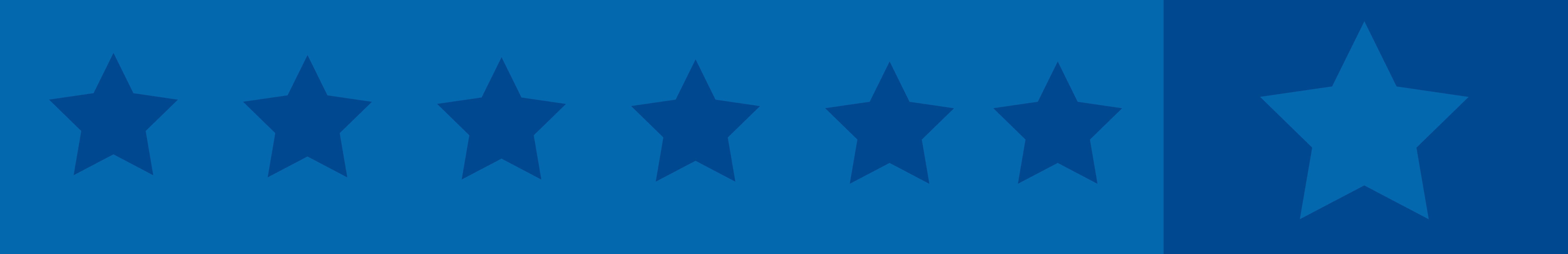 divider banner, blue with light blue stars across