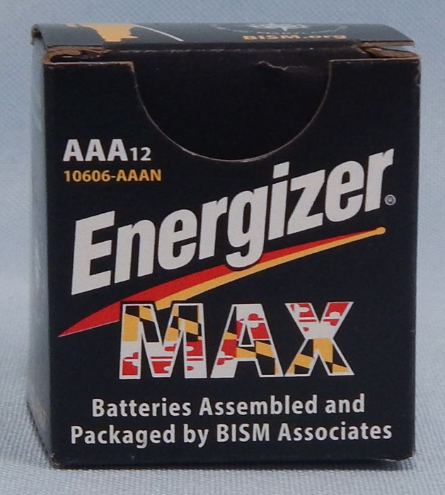 triple A batteries - Energizer Max packaged by BISM
