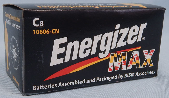 C batteries - Energizer Max packaged by BISM