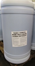 opaque drum with white label - BISM TKO Liquid Laundry Detergent