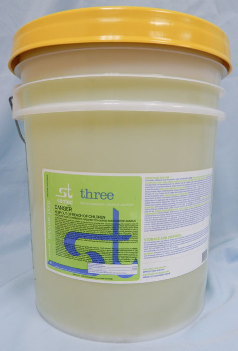 opaque bucket with yellow lid, light green label - SANTEC RESOLVE 3