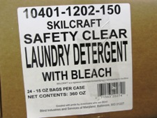 white label on case - Skilcraft Safety Clear Detergent