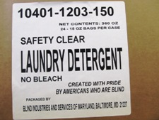 white label on case - Safety Clear laundry detergent