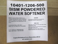 white label on case - BISM Powdered Water Softener