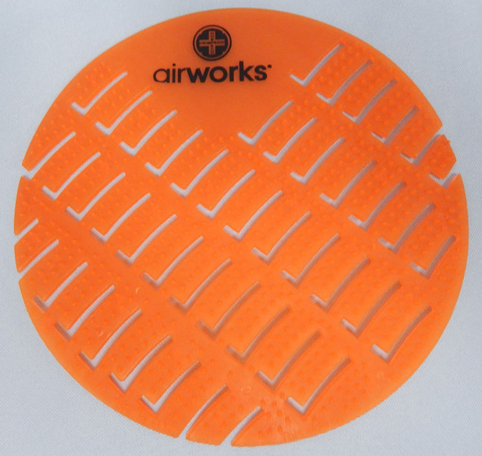 Airworks brand urinal screen - orange