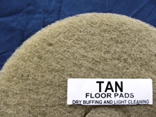 top half of tan floor pad, label displayed