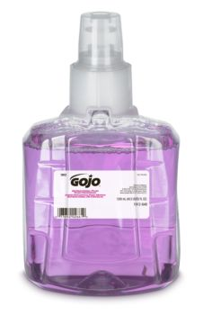 small bottle of bright purple soap