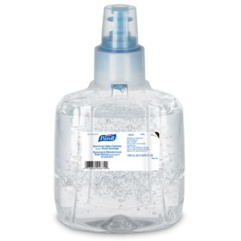 clear bottle, clear sanitizer, Purell brand