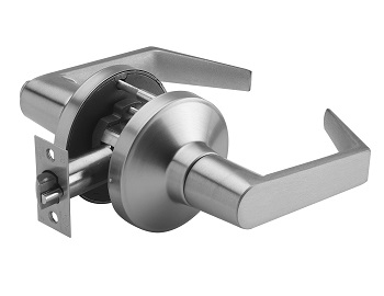 passageway lockset with philadelphia lever, steel finish