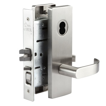 mortise storeroom lockset, Dallas handle