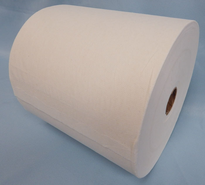 Single roll of white paper towels