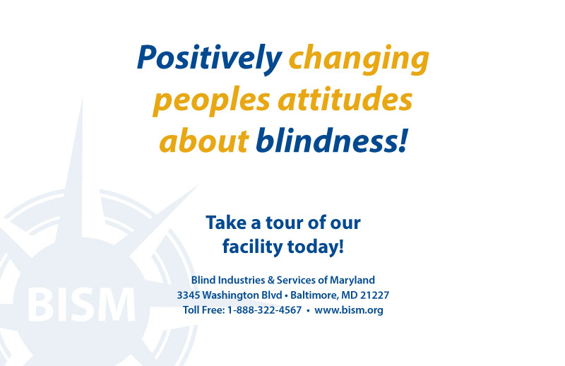 Back Cover - Positively changing people's attitudes about blindness!
