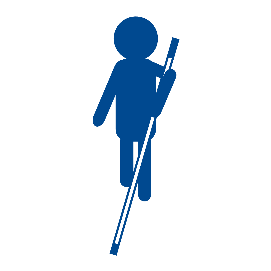 Rehabilitation Link - BISM Rehab logo - Figure with White Cane